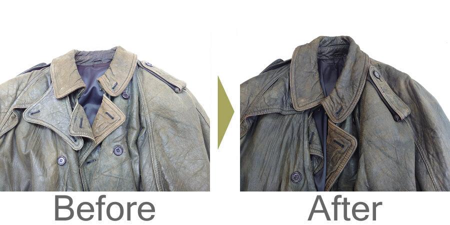 お気軽にお問い合わせください!,レザージャケット色あせ直し 色ハゲ直し ダークアップ加工