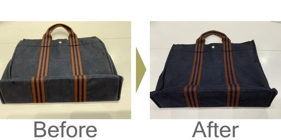 お気軽にお問い合わせください!,ダークアップ加工 布製バッグのスレと脱色