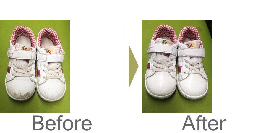 お気軽にお問い合わせください!,子供靴の洗いと補色