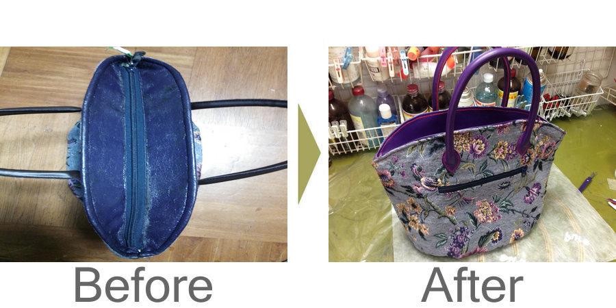 お気軽にお問い合わせください!,かばんの合皮劣化 劣化した合皮を革に張り替えました。