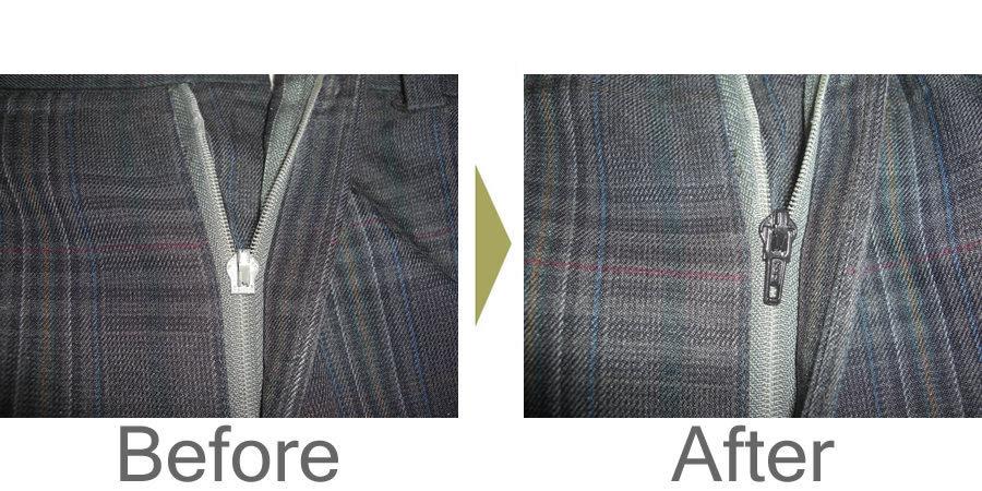 お気軽にお問い合わせください!,ズボンのファスナー修理 当店で一番多い修理がこのファスナー修理です。