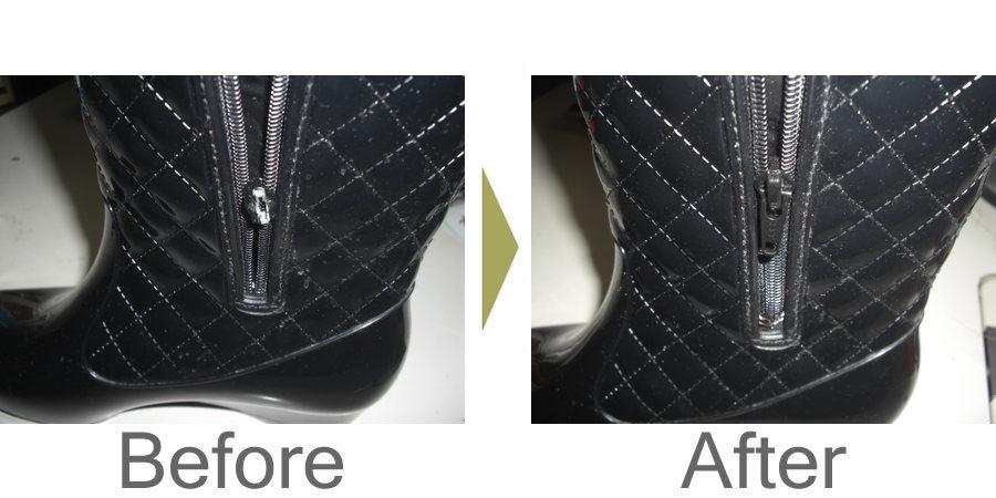お気軽にお問い合わせください!,ブーツのファスナー修理 スライダー交換で直りました。