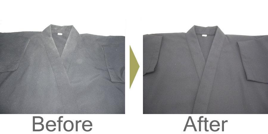 お気軽にお問い合わせください!,剣道着のカビ 防具もマイクロバブル洗いと遠赤外線乾燥で綺麗になります。