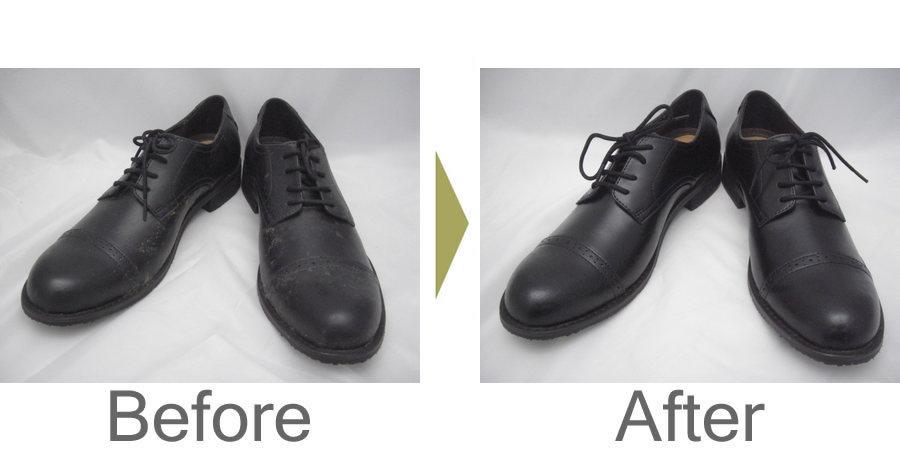 お気軽にお問い合わせください!,靴のカビ 気になる季節ですね。革靴も合皮も丸洗いで綺麗にしましょう!