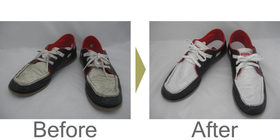 お気軽にお問い合わせください!,多色使いの靴が汚れてしまいました。フルメンテナンスで綺麗になりました。