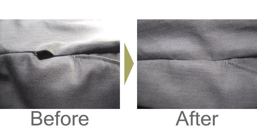 お気軽にお問い合わせください!,ズボンのポケット下がほつれてしまいました。流行のスリムズボンで一番多い修理です。