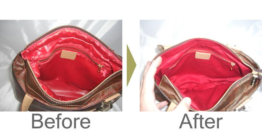 お気軽にお問い合わせください!,ETOROのかばんの内袋の劣化 外の革はなんともないのに中だけベトベトになって使えなくなってしまいました。