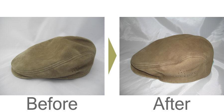 お気軽にお問い合わせください!,バーバリー(Burberry)豚革のハンチング帽を丸洗いしました。