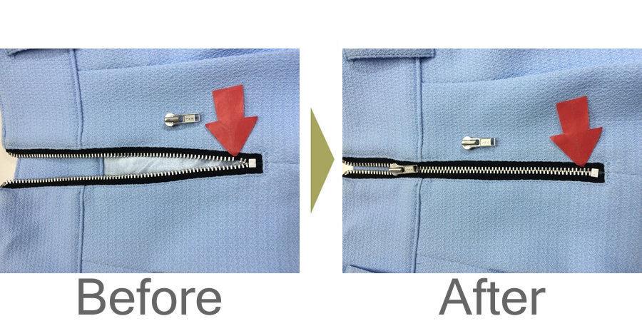 お気軽にお問い合わせください!,スカートのファスナー修理、スライダー交換、エレメント移植‼️
