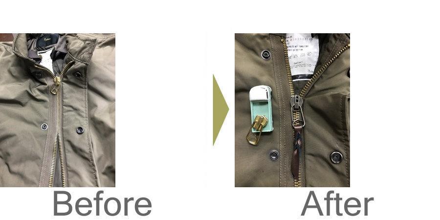 お気軽にお問い合わせください!,フィールドジャケットのスライダー交換‼️