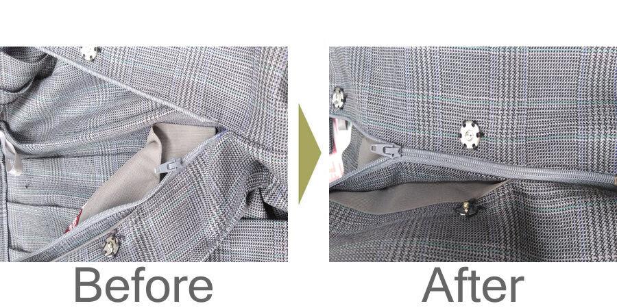 お気軽にお問い合わせください!,学生服スカートのファスナー修理