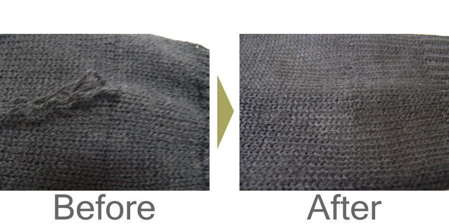 お気軽にお問い合わせください!,セーター袖口の糸のひきつれ修理