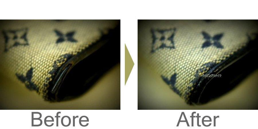 お気軽にお問い合わせください!,ルイヴィトン財布バイピングの修復、リメイク