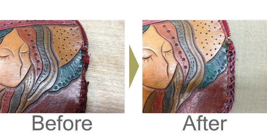 お気軽にお問い合わせください!,革製小銭入れの縁編み修理