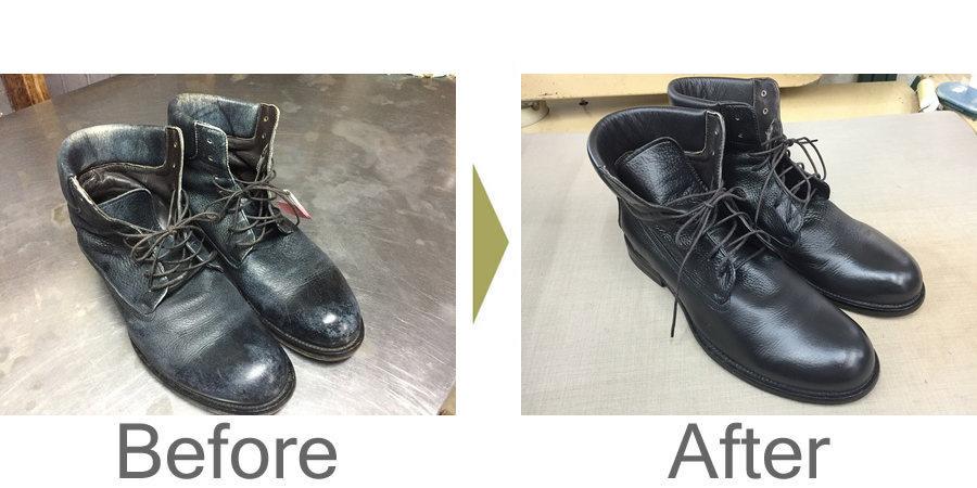 お気軽にお問い合わせください!,ブーツの洗浄・補色