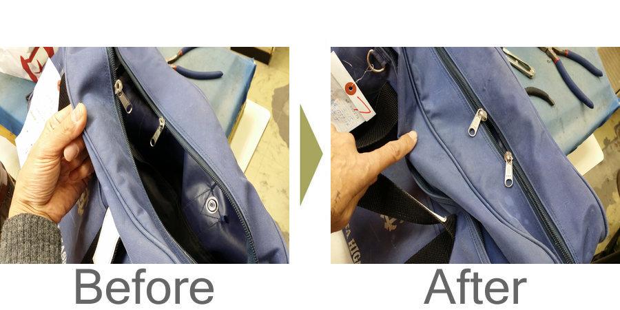 お気軽にお問い合わせください!,学生鞄 スポーツバック ファスナー修理