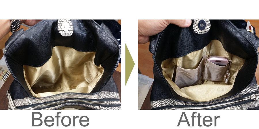 お気軽にお問い合わせください!,鞄 ポケット作り リメイク