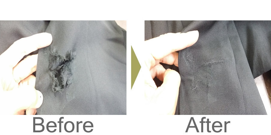 お気軽にお問い合わせください!,学生ズボン 膝の破れ ミシン修理