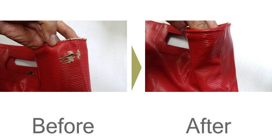 お気軽にお問い合わせください!,塩ビレザー 破れ直し 合成皮革修理