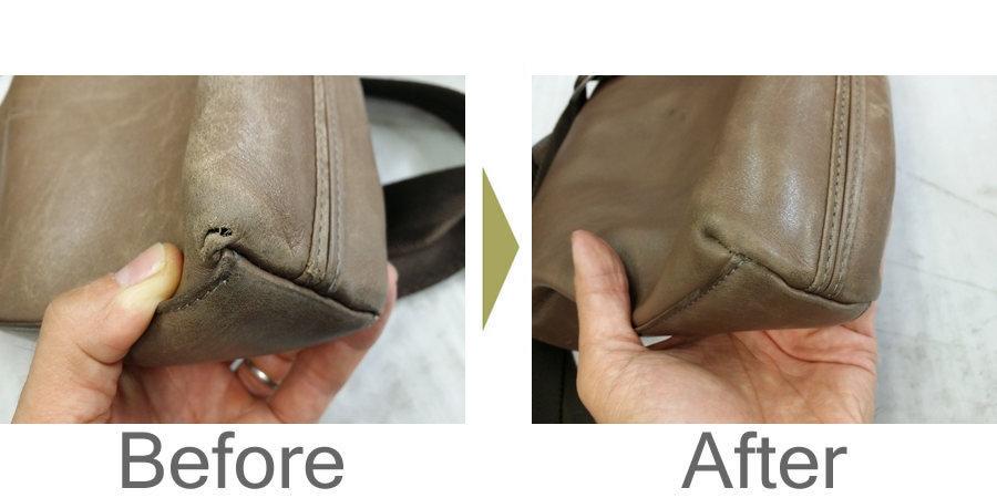 お気軽にお問い合わせください!,鞄 底の破れ 鞄修理