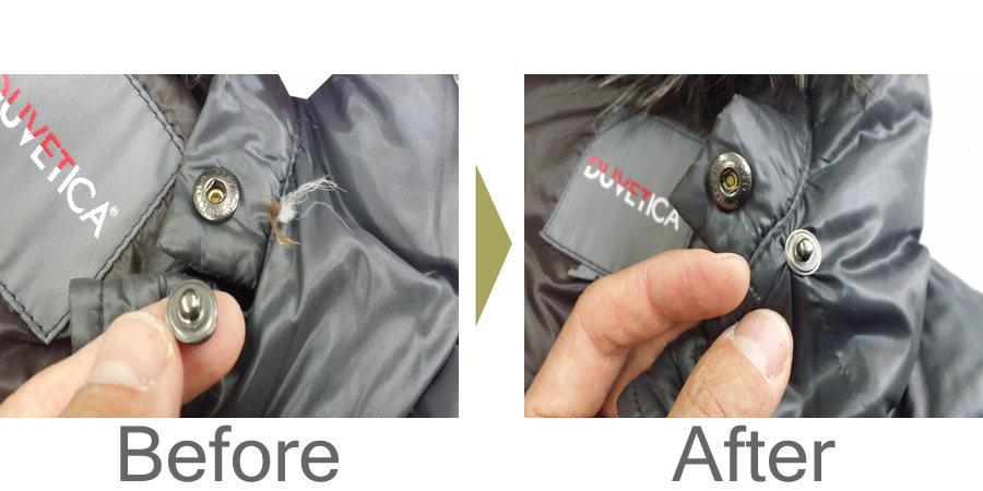 お気軽にお問い合わせください!,ダウンジャケット スナップボタン 修理