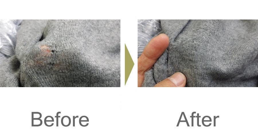 お気軽にお問い合わせください!,セーター 擦りきれ 修理