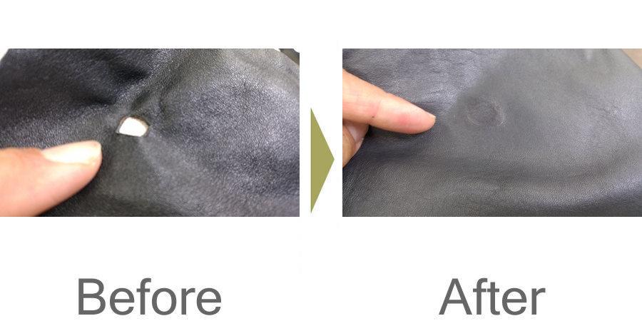 お気軽にお問い合わせください!,革の穴修理 革のキズ修理