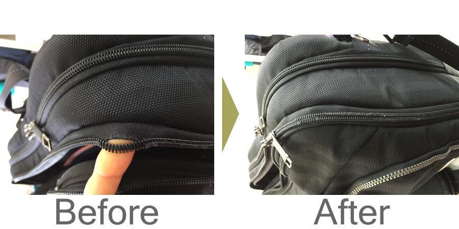 お気軽にお問い合わせください!,ビジネスバッグのファスナー修理