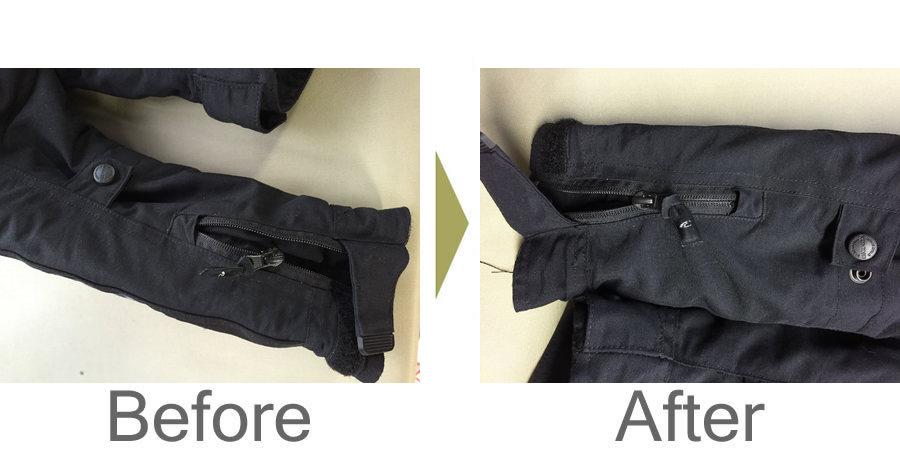 お気軽にお問い合わせください!,ジャンバー 袖のファスナー修理