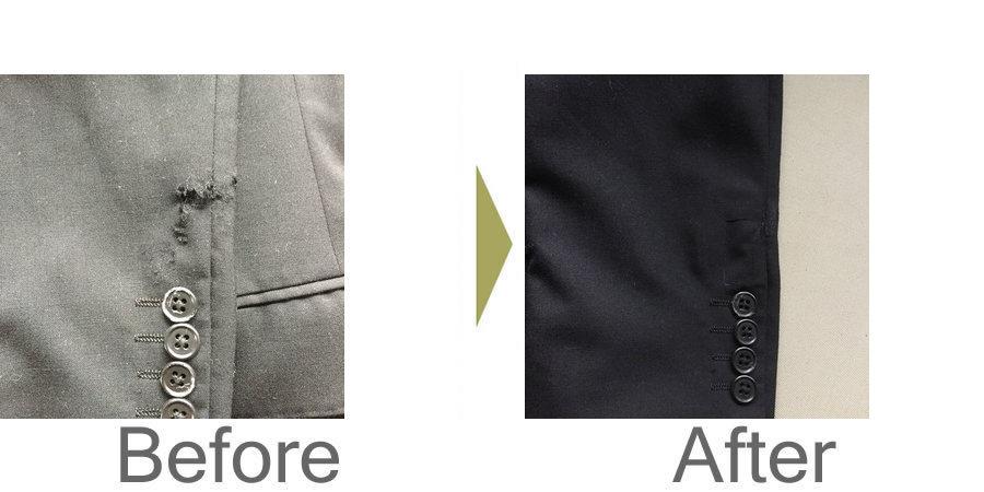 お気軽にお問い合わせください!,ジャケットの破れ修理