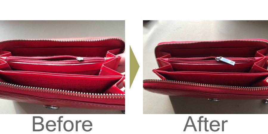 お気軽にお問い合わせください!,財布のファスナー修復