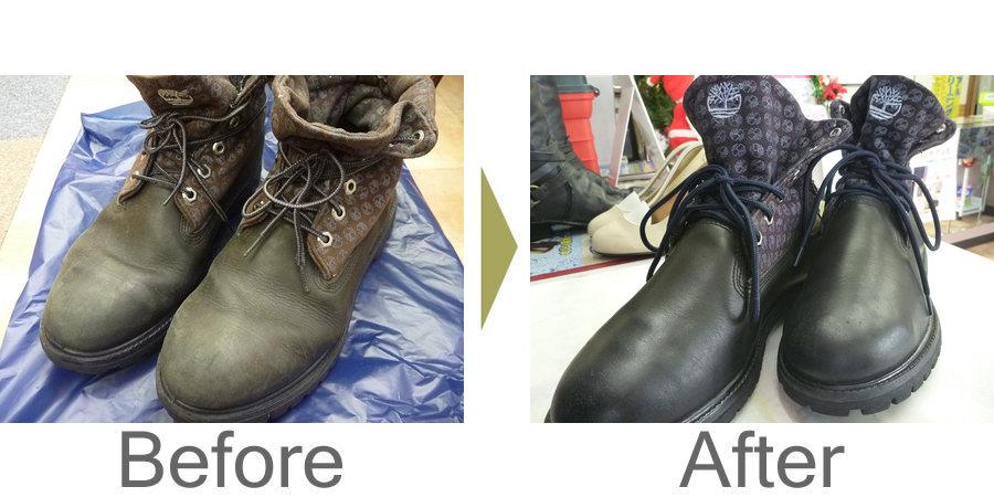 お気軽にお問い合わせください!,ティンバーランド ブーツ 全体汚れ クリーニング