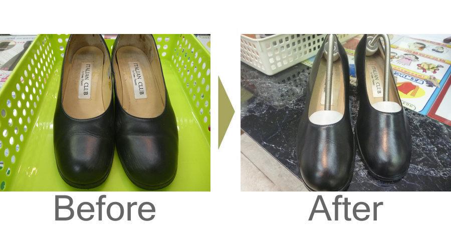 お気軽にお問い合わせください!,婦人 革靴 丸洗い クリーニング