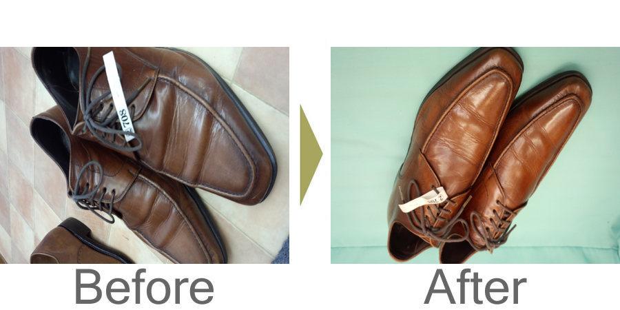 お気軽にお問い合わせください!,革靴クリーニング&かかと交換