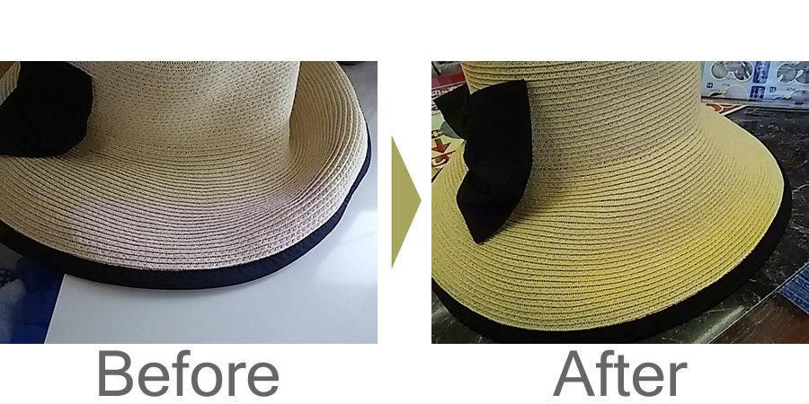 お気軽にお問い合わせください!,夏帽子の脱色補正