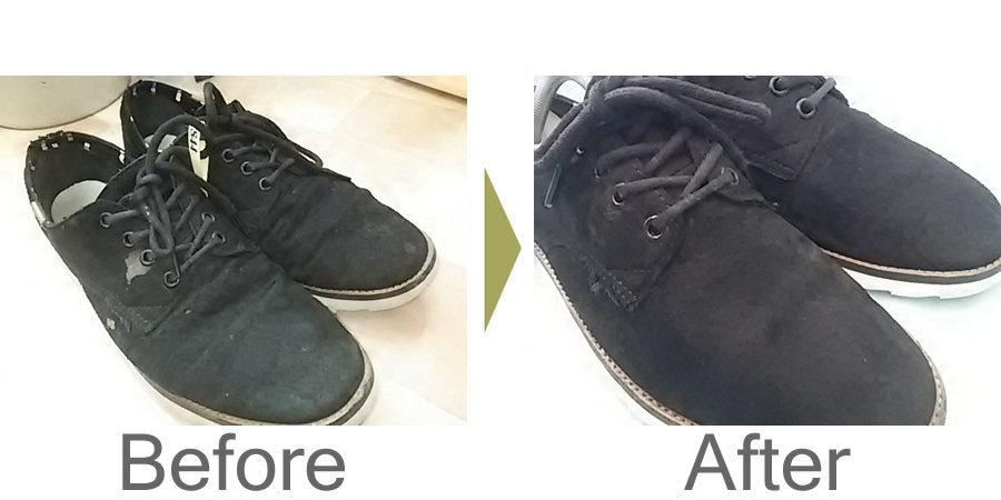 お気軽にお問い合わせください!,スエード靴のクリーニング   脱色の修正