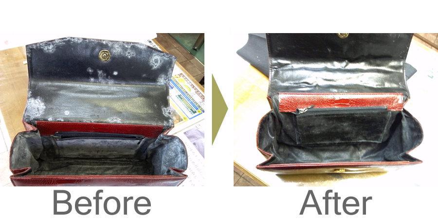お気軽にお問い合わせください!,婦人鞄 内側の合皮の劣化補修