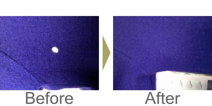 お気軽にお問い合わせください!,セーターの虫食いの補修