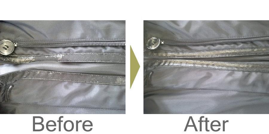 お気軽にお問い合わせください!,ブルゾンの合成皮革の剥がれ補修