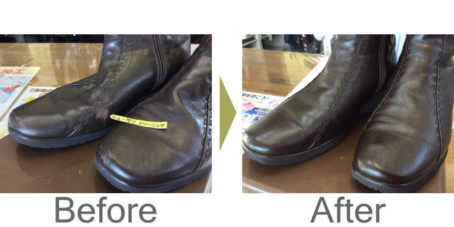 お気軽にお問い合わせください!,合成皮革ブーツ色ハゲ補修