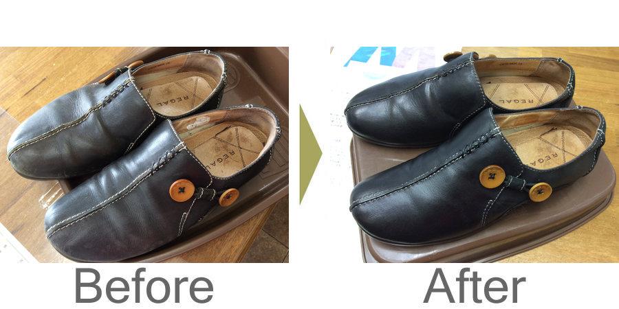 お気軽にお問い合わせください!,婦人革靴のクリーニング処理