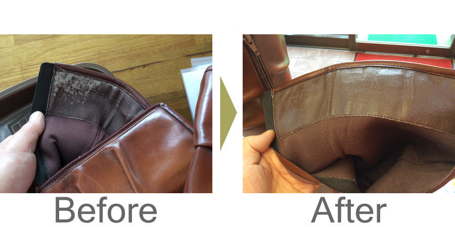 お気軽にお問い合わせください!,ブーツの合成皮革劣化を復元加工