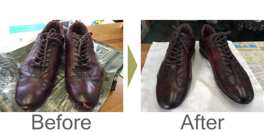 お気軽にお問い合わせください!,紳士革靴クリーニングと色ハゲ補色