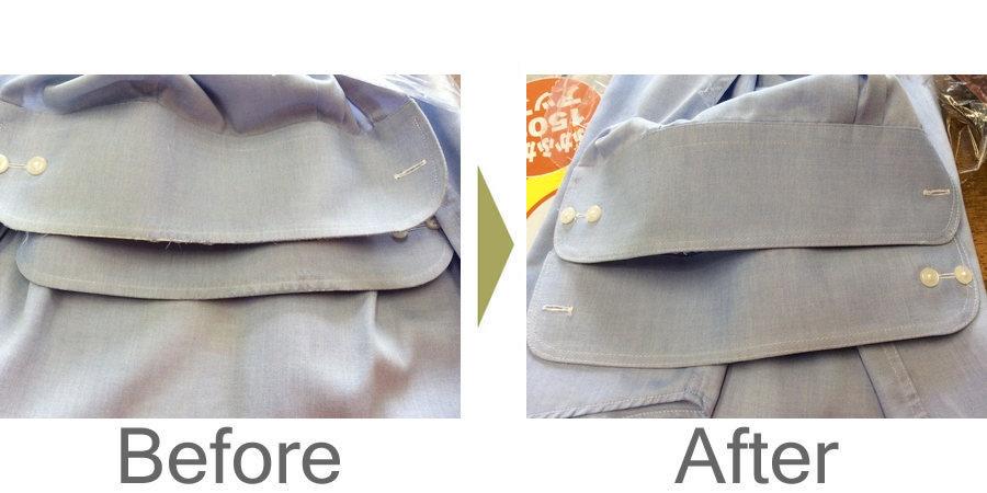 お気軽にお問い合わせください!,ワイシャツ袖口の擦り切れキレイに直ります‼︎