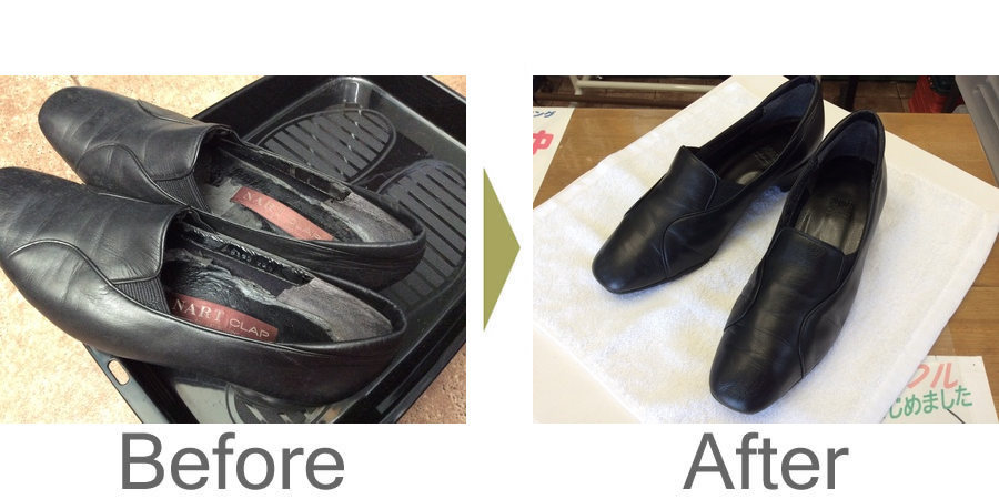 お気軽にお問い合わせください!,レディース革靴のメンテナンス