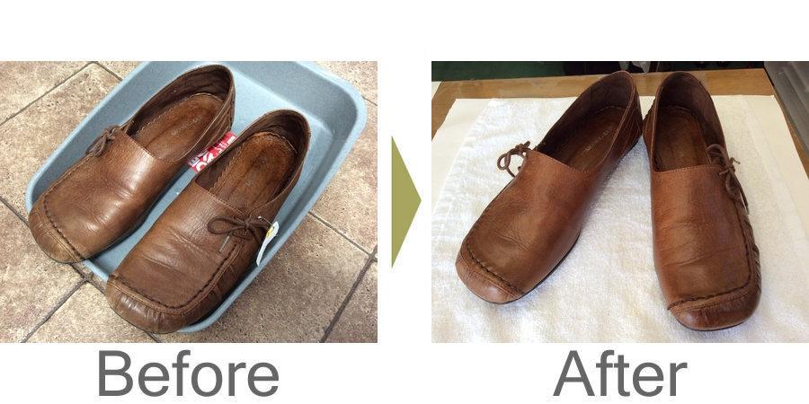 お気軽にお問い合わせください!,レディース革靴クリーニングで復活!
