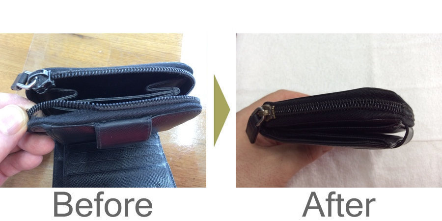 お気軽にお問い合わせください!,ファスナー修理、二つ折り財布直りました‼︎