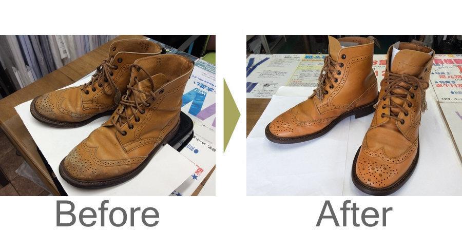 お気軽にお問い合わせください!,ブーツの汚れと色ハゲ低料金で蘇ります‼︎