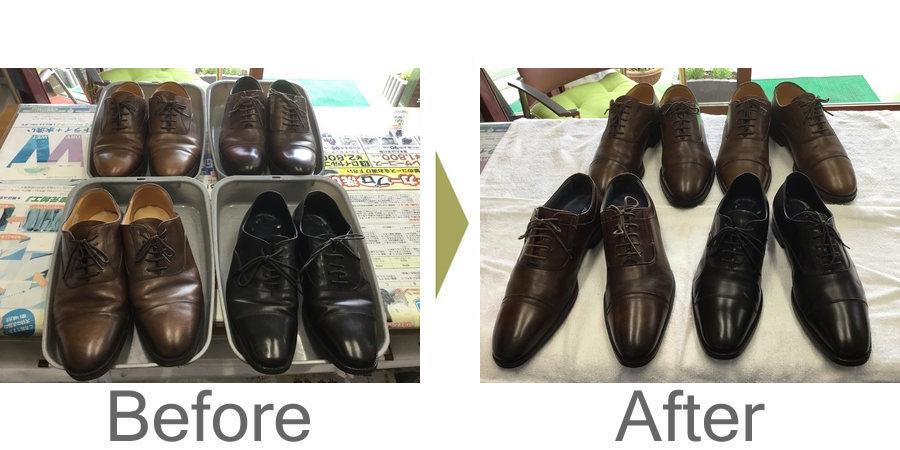 お気軽にお問い合わせください!,革靴の汚れもクリーニング店でお手入れできます!