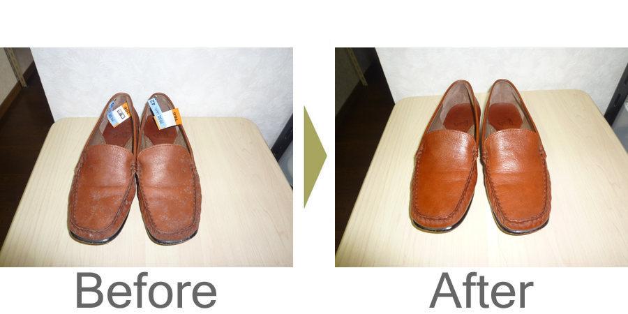 お気軽にお問い合わせください!,皮革靴のカビクリーニングと整形